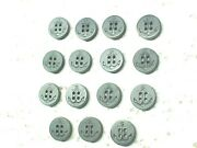 ✔✔✔us Navy 15 Lot Black Anchor Uniform Buttons 5/8in=16mm Shirt Blouse ✔usn Boat