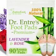Dr. Entreand039s Detox Foot Pads90 Pack Body Patch For Cleansing Toxins Health Care
