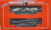 American Flyer 6-48507 U.s. Army Flat Cars With Tanks-new In Original Box