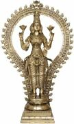 Master Large Lakshmi Standing With Arch Jai God Statue 40real Brass Hindu 30 Kg