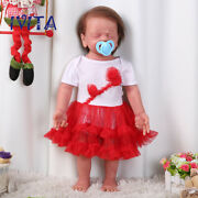 Ivita 22and039and039 5kg Realistic Reborn Dolls Root Hair Baby With Skeleton Xmas Gift Toy