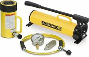 Enerpac Scr-2514h Single Acting Cylinder Pump Set Rc-2514 Cylinder With P-80 Han
