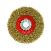 6andprime Inch 150mm Wire Brush Wheel With 10pc Adaptor Rings For Bench Grinder