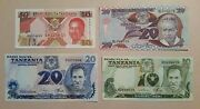 Instant Collection Series Tanzania 4 Banknotes 102050 Shilling 1978-1993