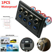 4 Gang Rv Car Yacht Single Touch Switch Panel Control Light 12v-24v Waterproof