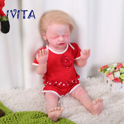 22'' Realistic Reborn Dolls 5kg Root Hair Baby Girl With Skeleton Xmas Gifts Toy