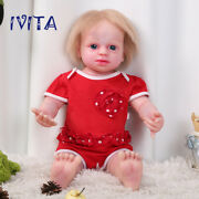 Ivita Silicone Reborn Dolls 22'' Root Hair Baby Girl With Skeleton Xmas Gift Toy