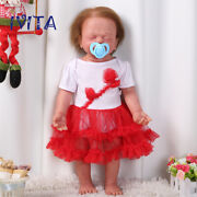 Ivita 22and039and039 Silicone Reborn Dolls Sleeping Baby Girl With Skeleton Xmas Gifts Toy