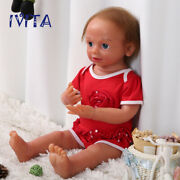 Ivita 22and039and039 Silicone Reborn Dolls Blue Eyes Baby Girl With Skeleton Xmas Gift Toy