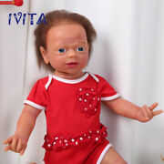 Ivita 22'' Reborn Dolls Root Hair Silicone Baby Girl With Skeleton Xmas Gift Toy