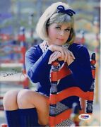 Doris Day Hand Signed 8x10 Color Photo    Gorgeous Pose In Stockings   Psa