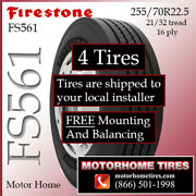 Motor Home Tires 255 70r22.5 Firestone Includes Shipping And Installation