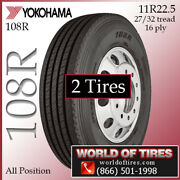 Yokohama 108r 2 Commercial Tires 11r22.5 With Free Shipping