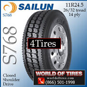 Sailun S768 4 Commercial Tires 11r24.5 With Free Shipping