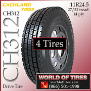 Cachland Ch312 4 Commercial Tires 11r24.5 With Free Shipping