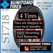 Rv Tires 235/80r22.5 245/75r22.5 Sumitomo Includes Shipping And Installation