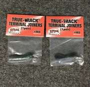 Lot Of 2 New Sets Atlas 465 Terminal Rail Joiners True-track Code 83