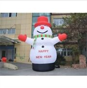 Lovely Giant Outdoor Christmas Inflatable Snowman For Christmas Decoration 8m Am