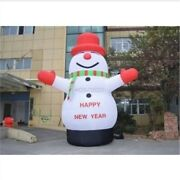 Lovely Giant Outdoor Christmas Inflatable Snowman For Christmas Decoration 6m Sa