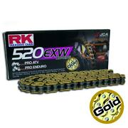 Rk Atv/off-road Motorcycle Bike Derive Chain Alloy Steal 520 Exw X 130 Gold