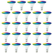 Sunco 24 Pack Par38 Led Smart Bulb 13w, Color Changing, Dimmable, Alexa And Google