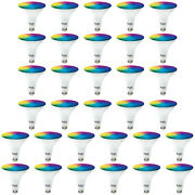 Sunco 32 Pack Par38 Led Smart Bulb 13w, Color Changing, Dimmable, Alexa And Google