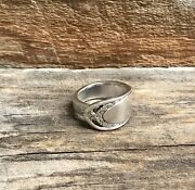 Spoon Ring Sterling Silver Plated Flatware Vintage Band Womenandrsquos Jewelry