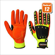 Portwest A721 Pack Anti Cut Impact Resistant Breathable Grip Gloves Ansi A3 Cut