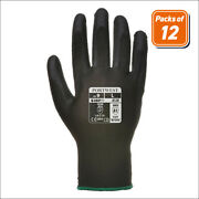 Portwest A120 Pack Handling Work Safety Glove With Protective Pu Palm Grip Black
