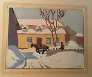 """Horse And Sleigh"""" By Edwin Holgate Group Of Seven Print, Limited Print"""