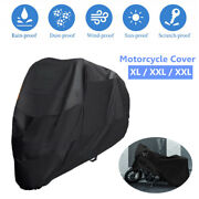 Motorcycle Cover Xl/2xl/3xl Waterproof Outdoor Sun Rain Dust Protector With Bag