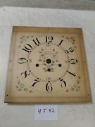 New England Pillar And Scroll Westminster Chimes Clock Wooden Dial