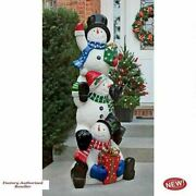 Christmas Illuminated 61.5 Snowman Holiday Statue Collection With Led Lights