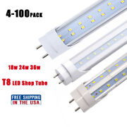 4ft T8 Led Tube Lights Shop Light 18w 24w 36w G13 Bi-pin Tube Replacement 10-100