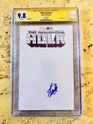 Immortal Hulk 1 Blank Signed By Stan Lee. Only One In Existence.