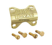 2x Brass Handle Bar Clip Clamp And Bolt Fit For Royal Enfield Bullet
