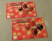 +lego Minecraft Instruction Manual Only 21106 Micro World Nether--books 1 And 2
