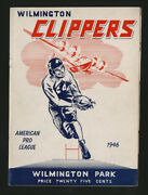 1946 Long Island Indians Wilmington Clippers Afl Football Program Very Rare