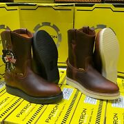 Menand039s Work Boots Genuine Leather Brown Polyurethane Clear Sole Boots 107
