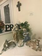 Lladro Nativity 1386 - 1390 5 Piece Set Old Rare Mint Condition Fast Shipping