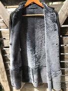 New Prorsum Navy Suede Shearling Long Leather Coat Us8 Uk10 Sold Out