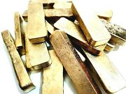 322 Grams Scrap Gold Bar For Gold Recovery Melted Different Computer Coin Pins