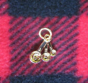 Gold Color Measuring Spoons Pin Charm Metal Pampered Chef Miniature Dollhouse