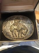 Super Rare Sterling The Norther Frederic Remington Buckle Bronze 1/1000
