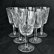 6 Old Waterford Lismore Water Goblets 6 7/8 Excellent