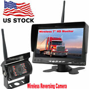 Wireless Ir Rear View Camera And 7 Color Back Up Monitor For Truck Tractor Bus