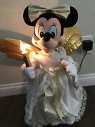 Disney Store Season Of Song 1997 Telco Minnie Mouse Animated Christmas Figure