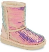 New Ugg Uggs Girl Women Classic Short Ii Sequins Boots Cameo Rose Pink 3 4 35 36