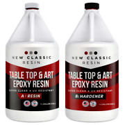 Epoxy Resin 1 Gallon Kit Art Crafts And Table Tops Super Clear New Classic Resin
