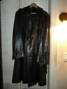 Movie Star Made In Spain Cortefiel Leather Coat .48. Very Rare, Warm And Cool